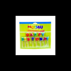 Happy Birthday betű gyertya