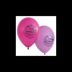 Megcsináltad! gumi léggömb ballagásra pink-magenta színben