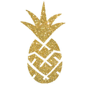 Ananász csillámfestő sablon