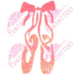 Balettcipők csillámfestő sablon