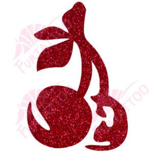 Cseresznye csillámfestő sablon