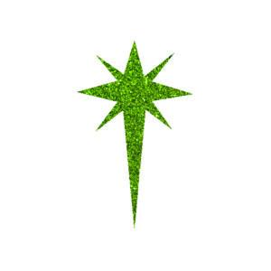 Csillag 2 csillámfestő sablon