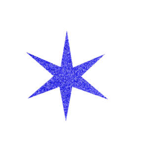 Csillag csillámfestő sablon
