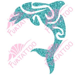 Delfin 1 csillámfestő sablon