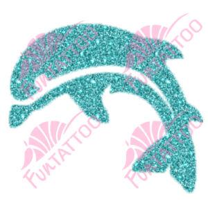 Delfin 2 csillámfestő sablon
