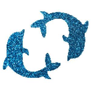 Delfin 4 csillámfestő sablon