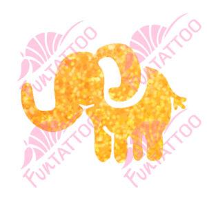 Elefánt 2 csillámfestő sablon