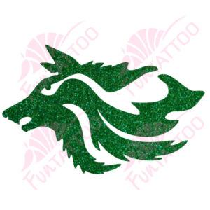 Farkasfej csillámfestő sablon