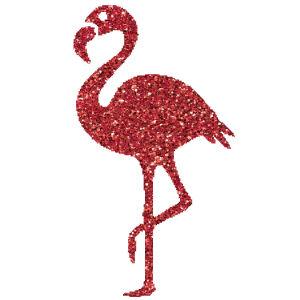 Flamingó 2 csillámfestő sablon