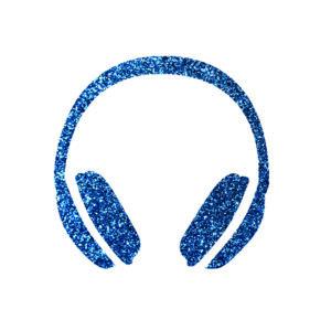 Fülhallgató csillámfestő sablon