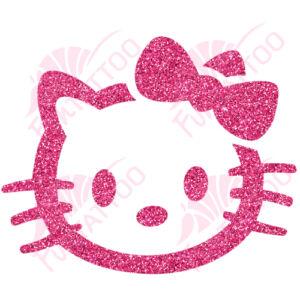 Hello Kitty 1  csillámfestő sablon