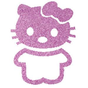 Hello Kitty 2 csillámfestő sablon