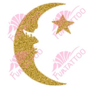 Hold csillag csillámfestő sablon