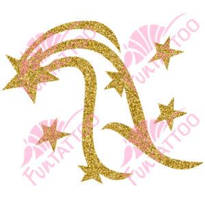 Hullócsillag csillámfestő sablon