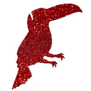 Kakadu  csillámfestő sablon