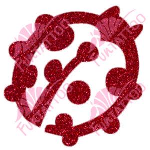 Katicabogár csillámfestő sablon