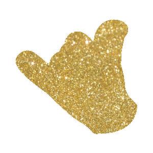 Kézjel 2 csillámfestő sablon