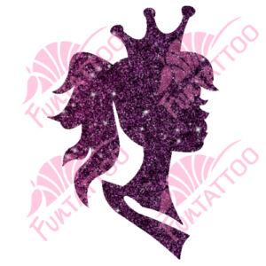 Királylány 2 csillámfestő sablon