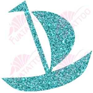 Kishajó csillámfestő sablon