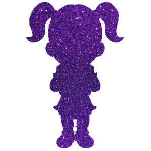 Kislány 3 csillámfestő sablon
