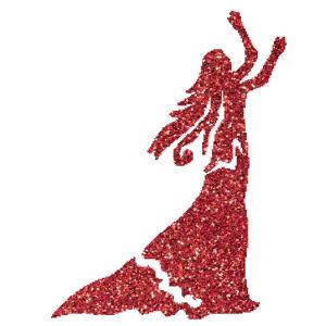 Lány 1  csillámfestő sablon