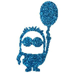 Lufis mignon  csillámfestő sablon
