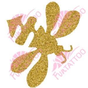 Méhecske csillámfestő sablon