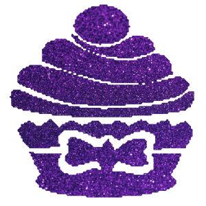 Muffin 2 csillámfestő sablon