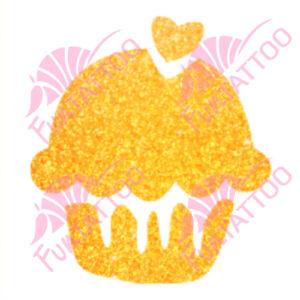 Muffin csillámfestő sablon