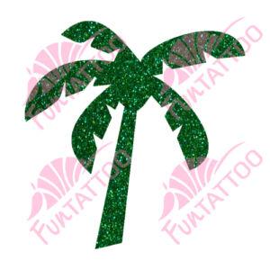 Pálmafa csillámfestő sablon