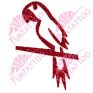 Papagáj csillámfestő sablon