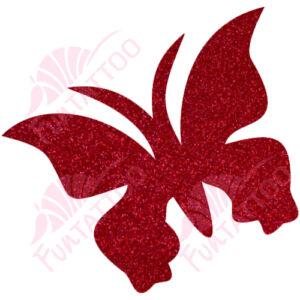 Pillangó 2 csillámfestő sablon