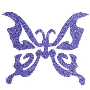 Pillangó 4  csillámfestő sablon