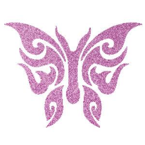 Pillangó 5  csillámfestő sablon