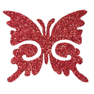 Pillangó 6  csillámfestő sablon