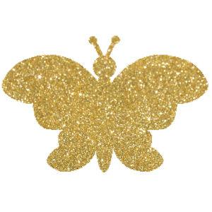 Pillangó 8  csillámfestő sablon
