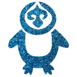 Pingvin csillámfestő sablon