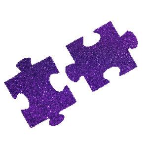 Puzzle csillámfestő sablon