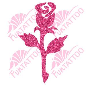 Rózsa 2 csillámfestő sablon