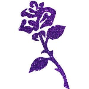 Rózsa 3 csillámfestő sablon