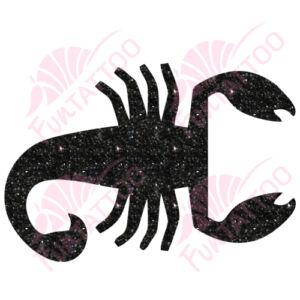 Skorpió 2 csillámfestő sablon