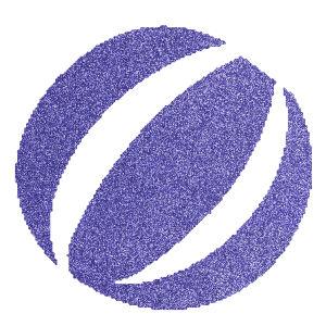 Strandlabda csillámfestő sablon