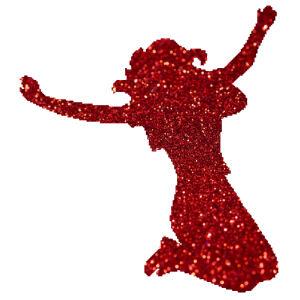 Táncoslány 4  csillámfestő sablon