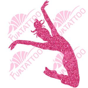 Táncoslány 1 csillámfestő sablon
