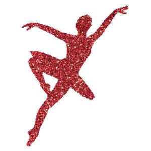 Táncoslány 3  csillámfestő sablon