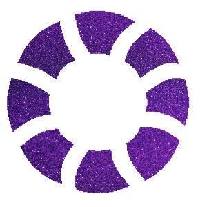 Úszógumi csillámfestő sablon