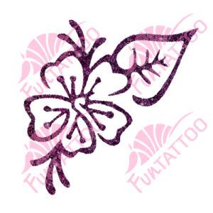 Virág 6 csillámfestő sablon