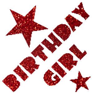 Birthdaygirl csillámfestő sablon
