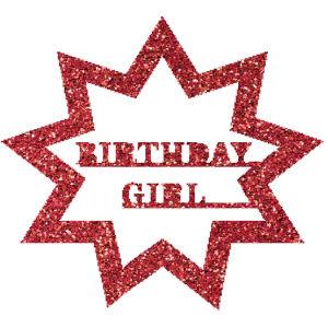 Birthday kitűző csillámfestő sablon