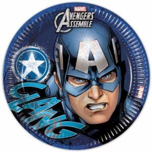 Bosszúállók Avengers Teens Papírtányér 8 db-os